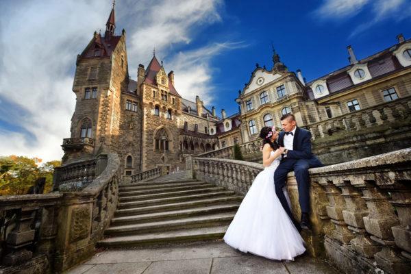 Sesja ślubna – Zamek Moszna