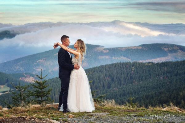Sesja ślubna w górach. Plener na Czarnej Górze.